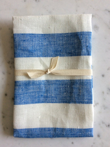 Blue/white striped | linen Tea/Hand Towel