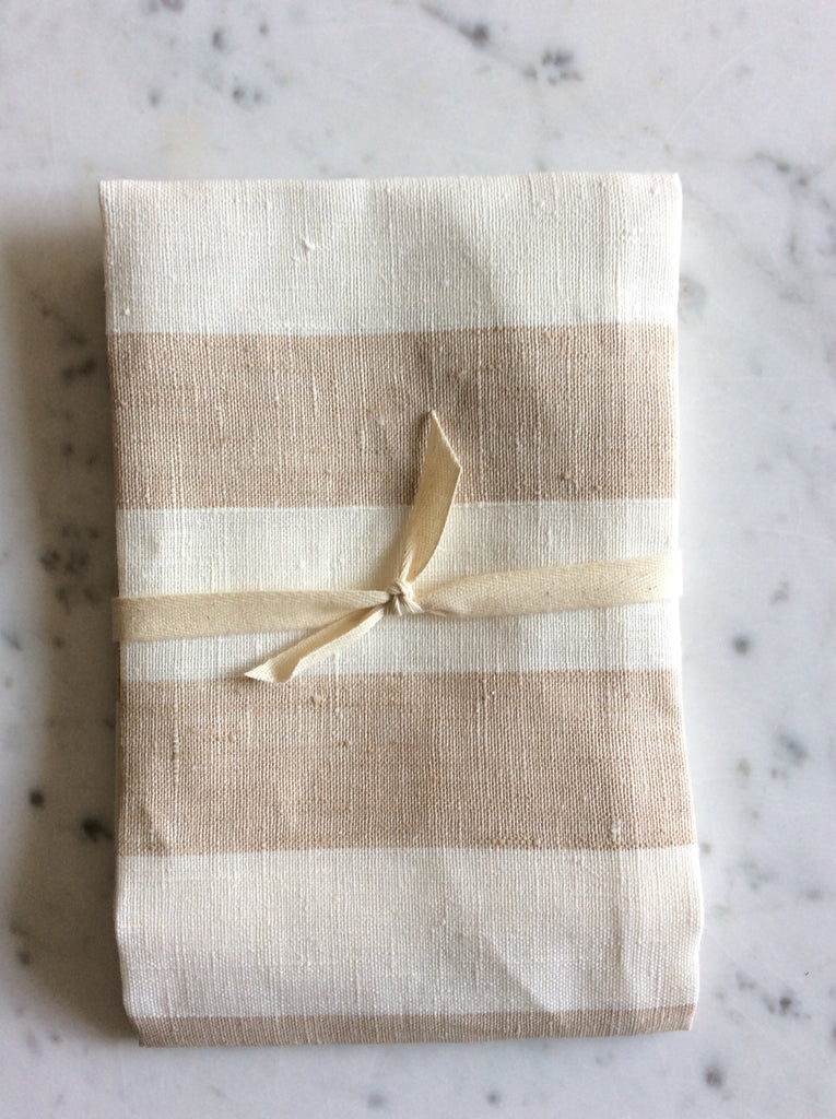 Cream/white striped | Tea/Hand Towel