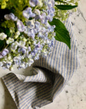 indigo & natural thin striped | linen Tea/Hand Towel