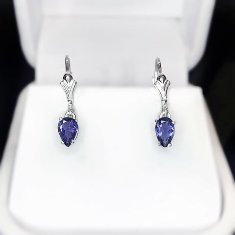 Iolite Sterling Silver Dangle Earrings