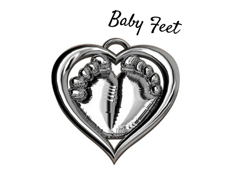 EveryChild Baby Feet (Sterling)