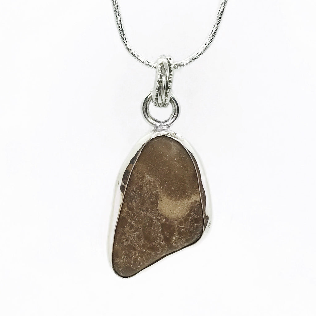Beach Stone Sterling Silver Necklace