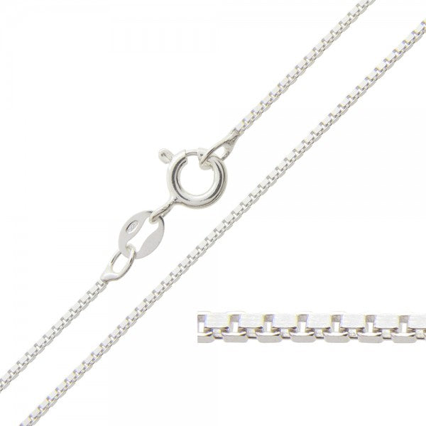 20 inch sterling silver box chain-one chain included in sterling pendant order