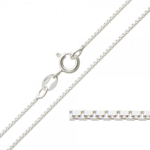 18 inch sterling silver box chain-one chain included in sterling pendant order