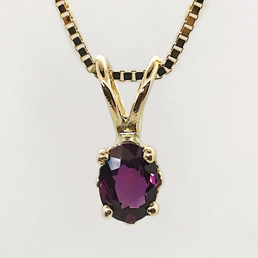 Genuine Ruby 14k Yellow Gold Necklace
