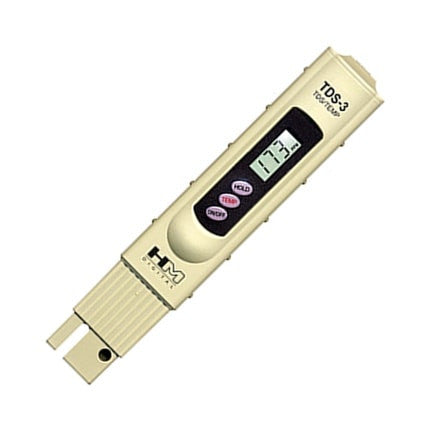 HM Digital TDS-3 Handheld TDS Water Meter With Carrying Case