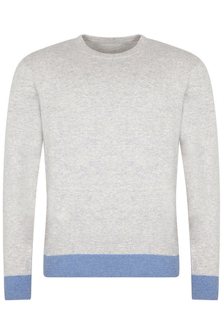 Cartmel Crew Neck Soft Grey Sweater