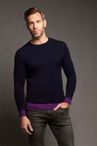 Beech Crew Neck Dark Navy Sweater
