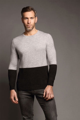 Ayr Crew Neck Soft Grey Sweater