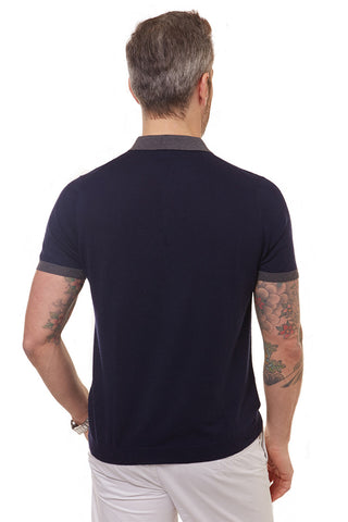 August Polo Shirt Indigo