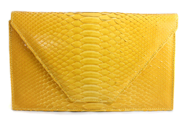The Tisa - Glazed Python - Yellow