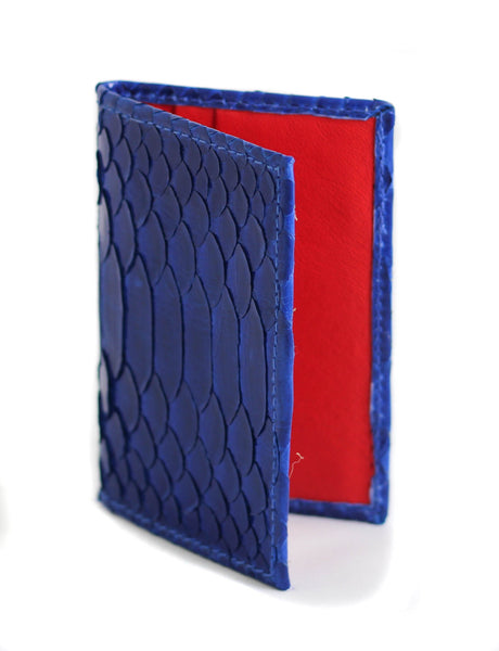 Cooper Cardholder - Glazed Python - Royal Blue