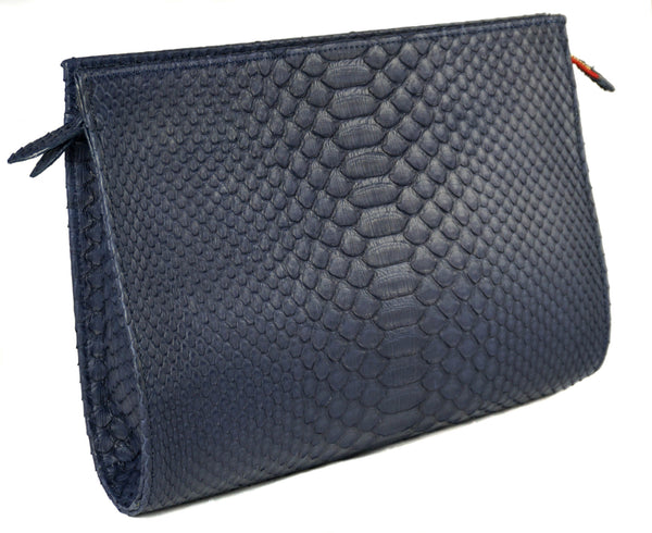The Jano - Matte Python - Navy Blue