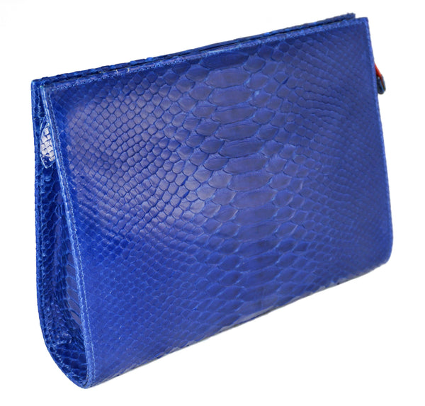 The Jano - Glazed Python - Royal Blue
