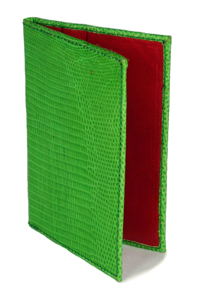 Cooper Cardholder - Lizard - Kelly Green