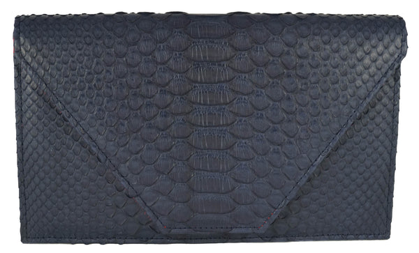 The Tisa - Matte Python - Navy Blue