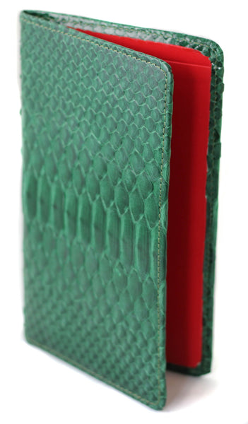 Sky Traveler Wallet - Glazed Python - Dark Green