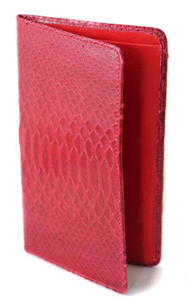Sky Traveler Wallet - Glazed Python - Red