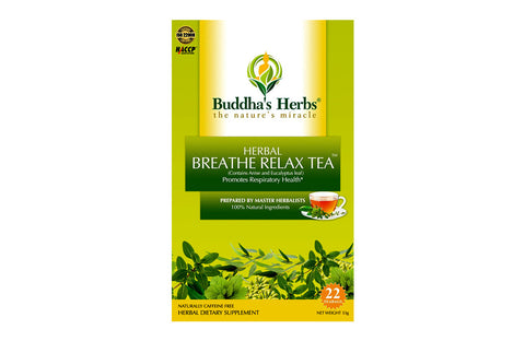Buddha's Herbs Premium Breathe Relax tea with Eucalyptus