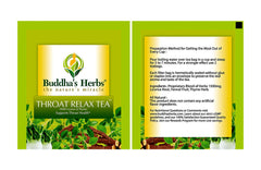 Buddha's Herbs Premium THROAT RELAX Herbal Tea - Caffeine Free