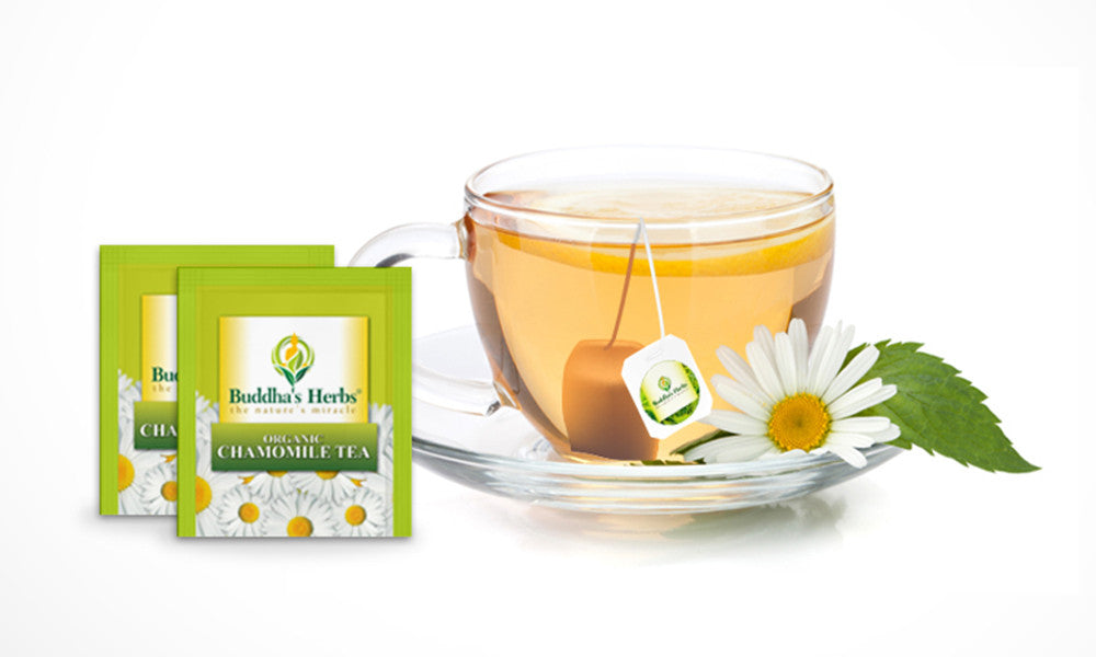 Green tea and camomile