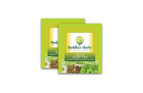 Buddha's Herbs Premium Organic Sleep tea with Valerian Root, Lemon Balm and Chamomile