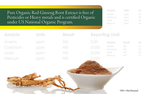 Organic Korean Ginseng (Red Ginseng - 300mg)