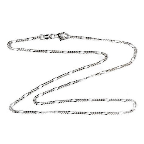 1.8mm Sterling Silver Figaro Necklace Chain