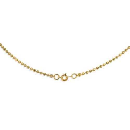Goldplated 2.4mm Ball Chain Necklace