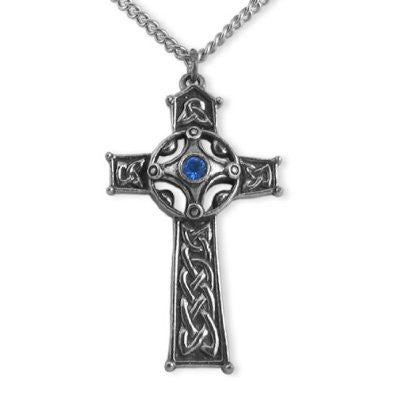 Ambrosius Celtic Cross Pendant Necklace