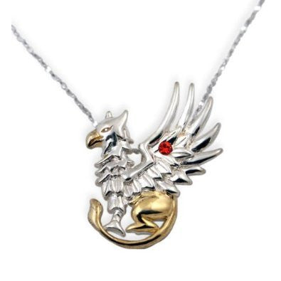 Griffin's Gift Gold and Silver Pendant Necklace