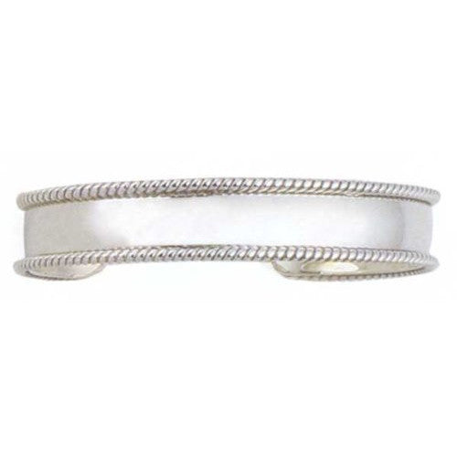 Rope Edge Cuff Bracelet in Sterling Silver