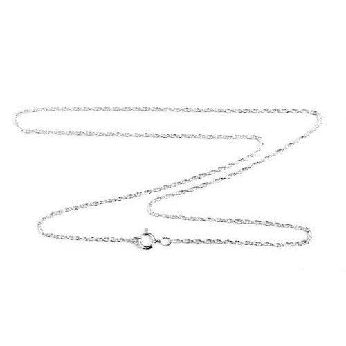 1.4mm Sterling Silver Double Rope Chain Necklace