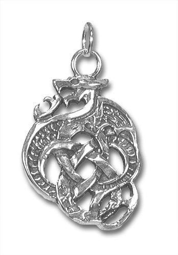 Celtic Knot Sterling Silver Dragon Charm