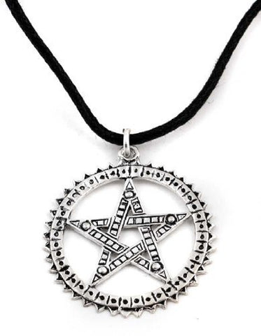 Pagani Pentagram Sterling Silver Pendant Necklace