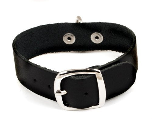 Fine Black Leather Buckle Bracelet