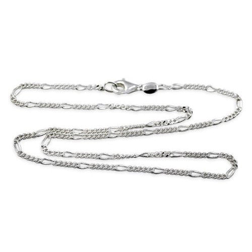 3mm Sterling Silver Figaro Chain