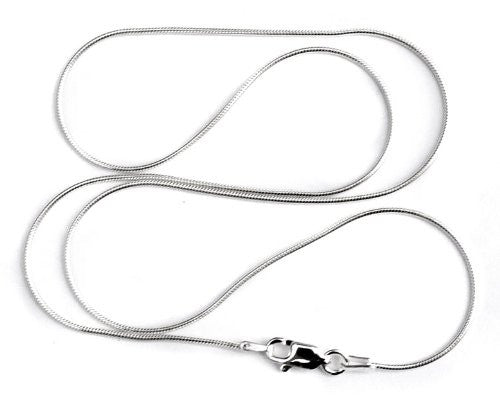 1mm Sterling Silver Round Seamed Snake Chain Necklace