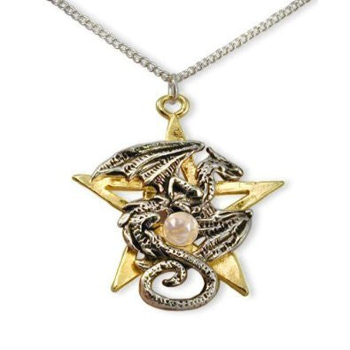 Dracogram Dragon Pentagram Pendant Necklace