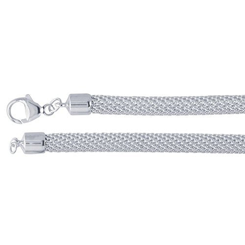 5.2mm Sterling Silver Mesh Necklace Chain - 18 inches