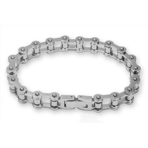 Steel Mens Bike Chain Bracelet