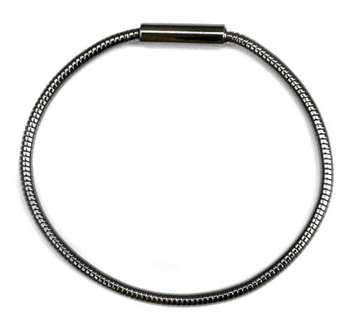 Gunmetal 3mm Omega Chain Bracelet