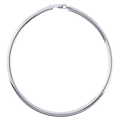 6mm Sterling Silver Omega Necklace Chain