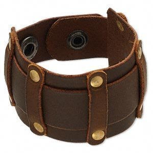 Steampunk Brown Leather Studded Gothic Bracelet