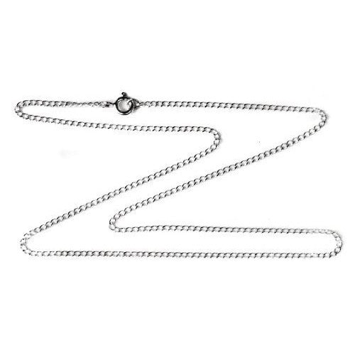 2mm Sterling Silver Curb Chain Necklace