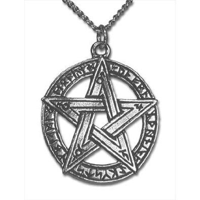 Runestar Pentagram Pendant Necklace