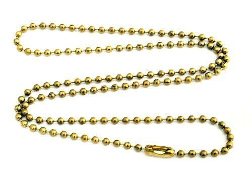 2mm Brass Ball Chain Necklace