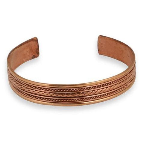 Copper Braid Cuff Bracelet