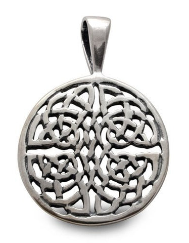 Celtic Circle Sterling Silver Pendant Charm