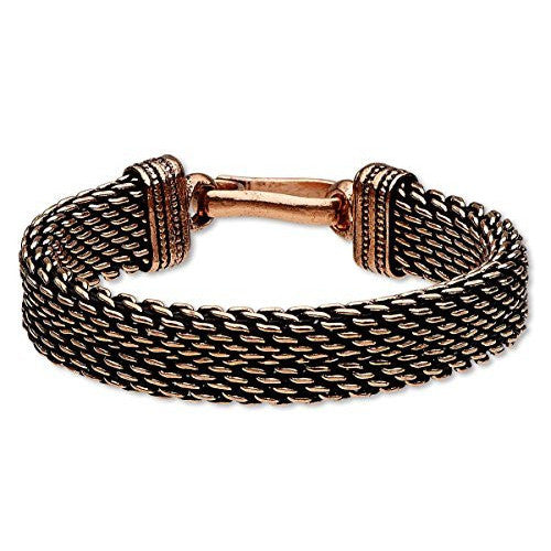 Antiqued Braided Copper Unisex Healing Bracelet - 8 inches